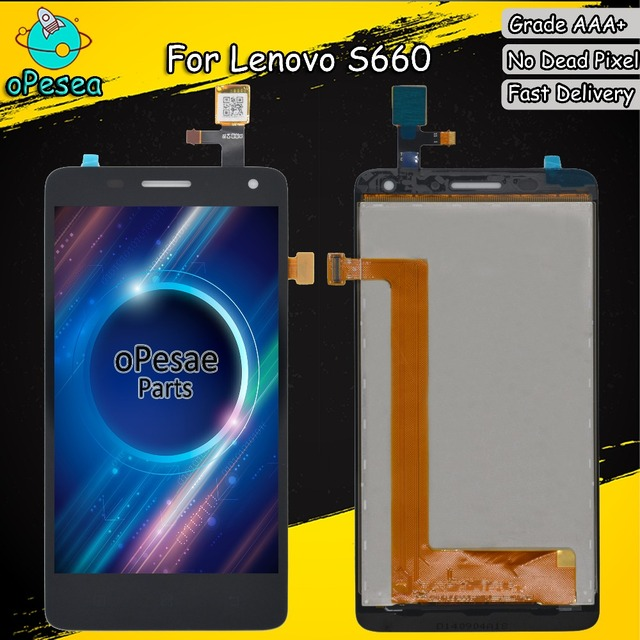 oPesea 4.7'' For Lenovo S660 LCD Display Panel Touch Screen Digitizer Glass Sensor Assembly Replacement Parts