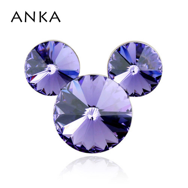 ANKA Mouse Crystal Brooches High Quality Brooch Pin Crystal Jewelry Main Stone Crystals from Austria #82046