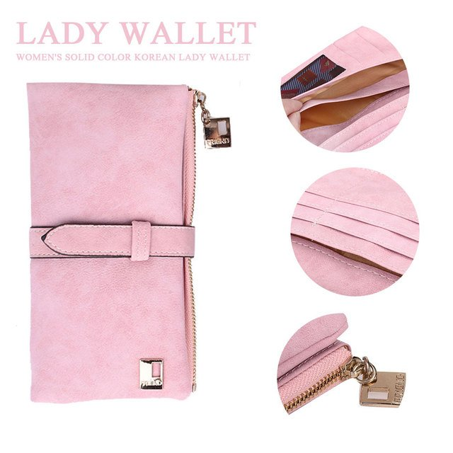 Drawstring 3 Color Handbag Women'S Wallet Simple Card Coin Purse Fashion Bag Girl