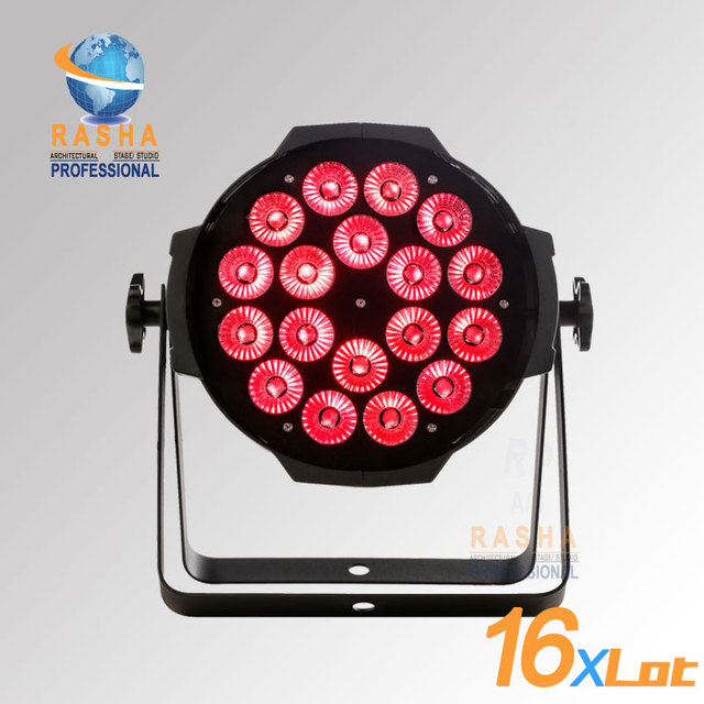 16X LOT Hot Sale Rasha 18pcs*15W LED RGBAW 5 in 1 Color LED Par Can Light  With Powercon,DMX IN For DJ Party Event