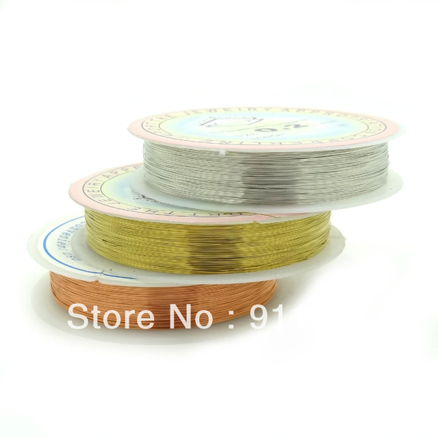 Wholesale Beading Wire 0.25mm Free Nickel Mix Color Copper Wires String Fit DIY Jewelry Findings Brass Ropes Cords,Free Shipping