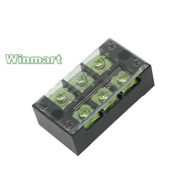 1 piece TB series 3-12 positions 45A 600V Fixed Terminal Blocks ABS shell Iron nickel plated conductor