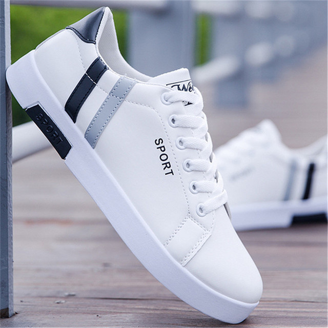 Men vulcanized Flats shoes fashion students white board shoes men trend of breathable shoes sneakers basket zapatos Driving 2019