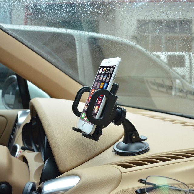 Universal car phone holder Car windshield dashboard desk mobile phone stand for iPhone 5 5s 6 6s 7 Plus meizu MX5 Pro6 GPS