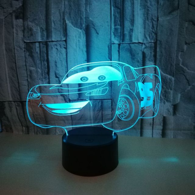 New Sports Car 3d Lights Colorful Led Gradual Change Illusion Desk Lamp Touch Remote Control Creative 3d Led Small Table Lamps