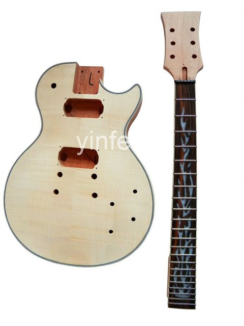 New High Quality Unfinished electric guitar neck  guitar Body Solid wood Body &  fingerboard L  model 1pcs #2