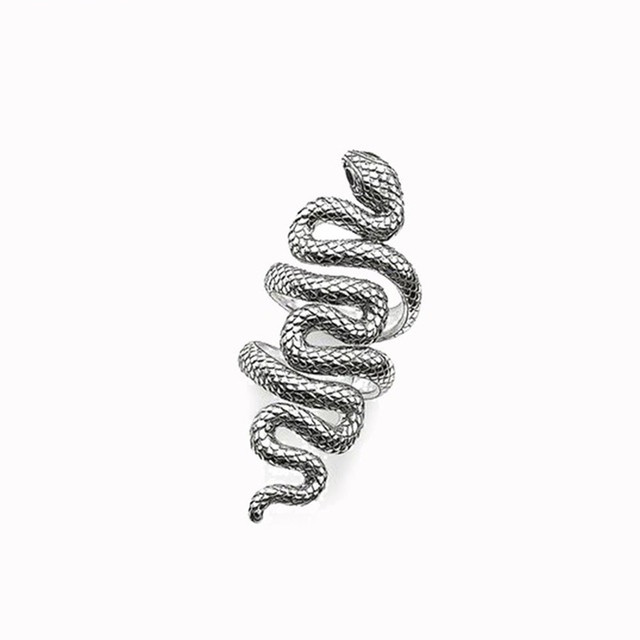 Muffiy Brand Silver Color Winding Snake Eternity Ring Trendy Anime Cool Men and Women Jewelry Sporty Anting Untuk Wanita Bijoux