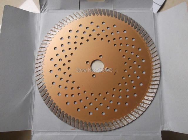 """9"""" Hot Pressed Diamond Turbo Blade for Dry and Wet Cutting Granite Diamond Cutting Disc 230*25.4*10mm tall"""