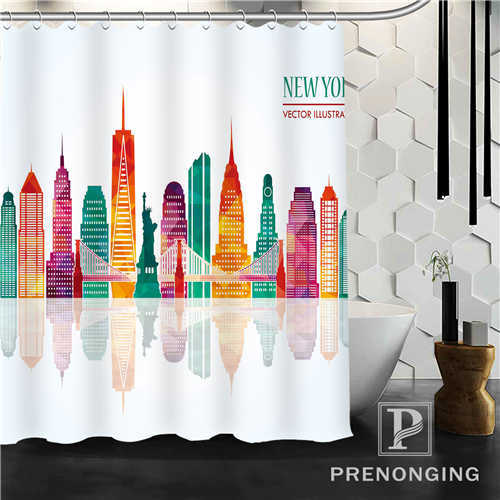 Custom Shower Curtain Yellow Graffiti Home Decoration Bathing Curtains Cloth Waterproof Polyester S-171212#08-36