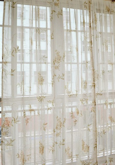 2 pices 140x160cm tulle Fashion curtain fabric curtain finished screens living room sheer curtain