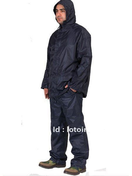170T polyester pv rainsuit , adult high quality polyester rainsuit