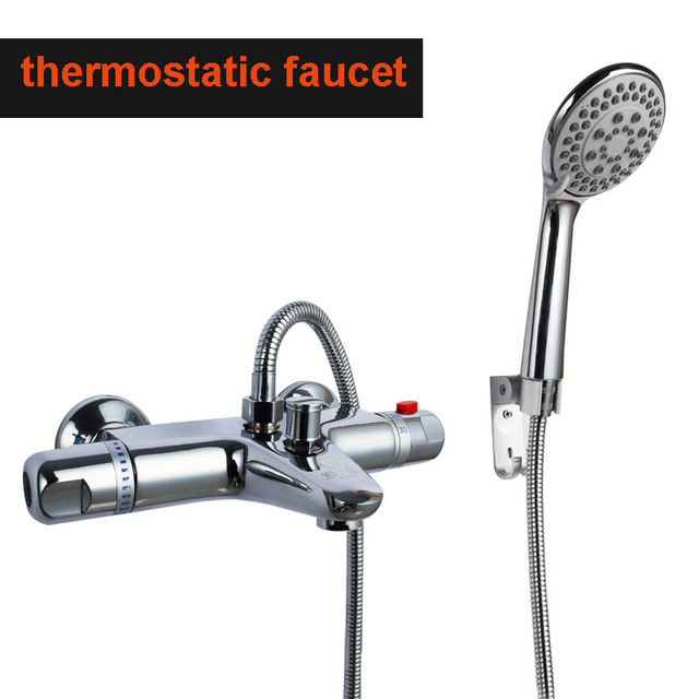 Quality bathtub thermostatic faucet bath and shower mixer valve constant temperatue bathroom taps free shipping HH-07