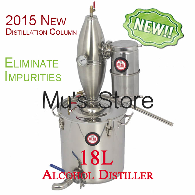Multifunction! Household Stainless Steel Home Wine Brewing Device 18L Alcohol Distiller/Distillation English Manual+11 Gifts