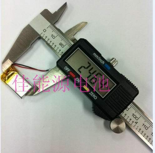 3.7V polymer lithium battery 271424 80MAH ultra-thin MP3 MP4 MP5 Bluetooth headset Rechargeable Li-ion Cell