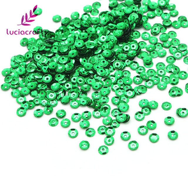 Lucia crafts 5mm 20g/lot Flake Rainbow Cup Sequin Flat Loose Paillette Sewing Garment Dress DIY Decoration D0802