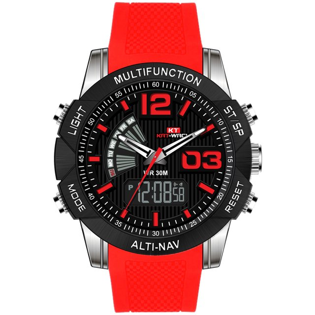 2019 KAT Fashion Sport Watch Men Digital LED Waterproof Quartz Watch Mens Watches Top Brand Luxury Relogio Masculino