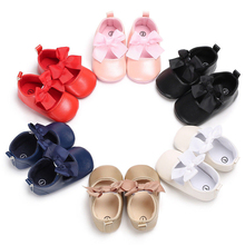 Girls Shoes 2019 Autumn  Toddler Newborn Baby 3D Bowknot Crib Shoes Princess Baby Soft Cotton Non-slip Prewalker For Baby Girls