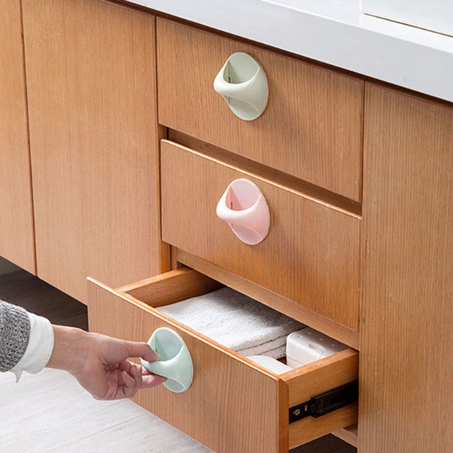 Multi-purpose door window auxiliary handle for Cabinet Cupboard Wardrobe Drawer Pulls Knobs Furniture Kitchen Accessories GHMY