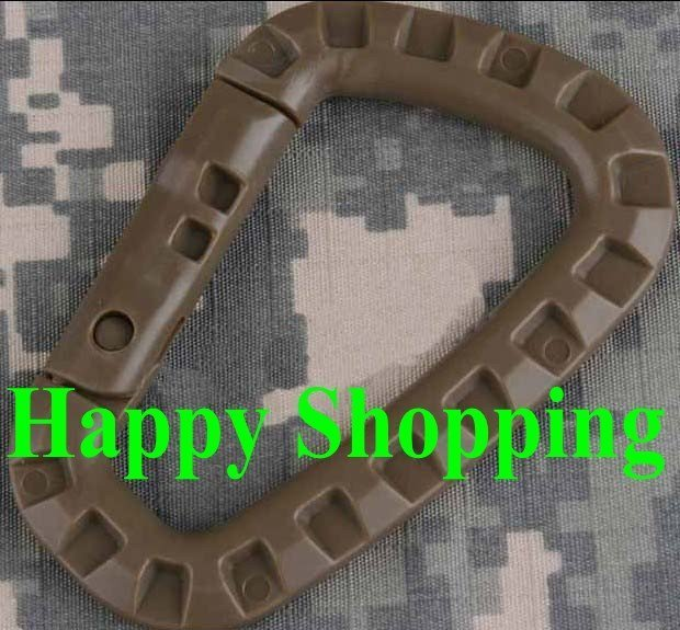 10pcs/lot carrying locking ring D type mountaineering buckle Chocolate free shipping