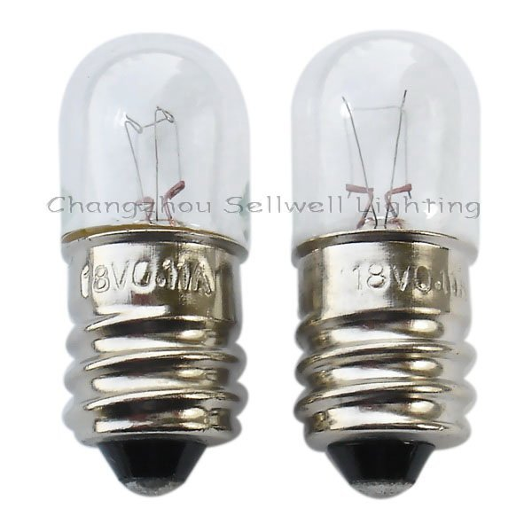 Miniature Lamp Bulbs Lighting E12 T13x33 18v 0.11a 10pcs A111