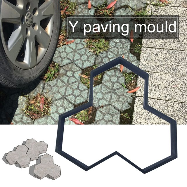 Pavement Mold Path Maker Mold Cement Brick Molds Garden DIY Practic Plastic Riginality