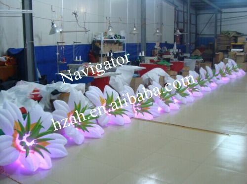 Inflatable Lily flowers chain for Party Decoration