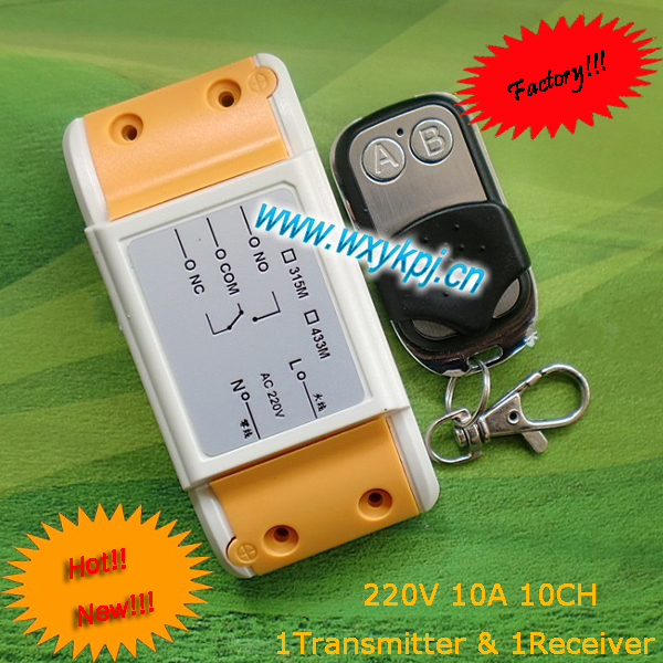 220V 1CH RF Wireless Remote control Switch System/ rf controller with 315/433MHz