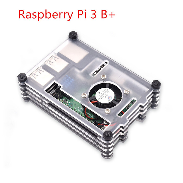 Raspberry Pi Case 9 Layers Acrylic Case with Cooling Fan for Raspberry Pi 3 Model B+(without Raspberry Pi board)