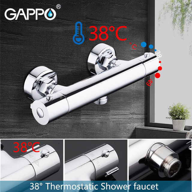 GAPPO shower faucet set bathroom thermostatic shower chrome bathroom mixer wall mounted thermostat shower mixer tap bathtub taps