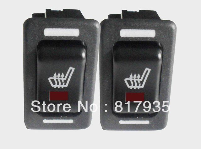 Free shipping 2 seats installed Universal High-off-Low Rectangle Switch carbon fibre seat Heater for auto car styling fiber