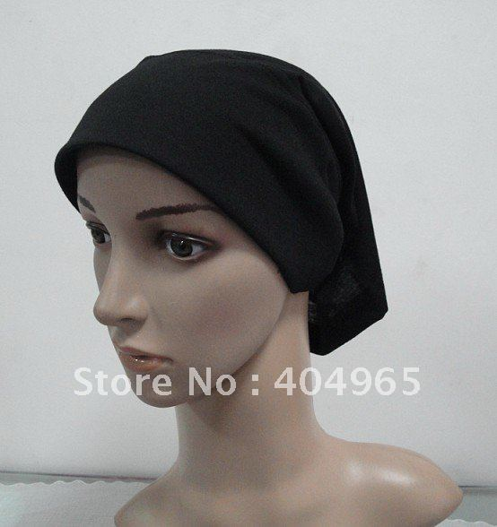 H293 plain tube underscarf with stiff on front,assorted colors