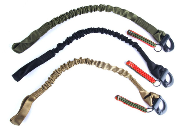 Military Quick Release Gun Sling Tactical CS Game Safety Lanyard Rope Outdoor Sports Multi-functional Elastic Rifle Sling