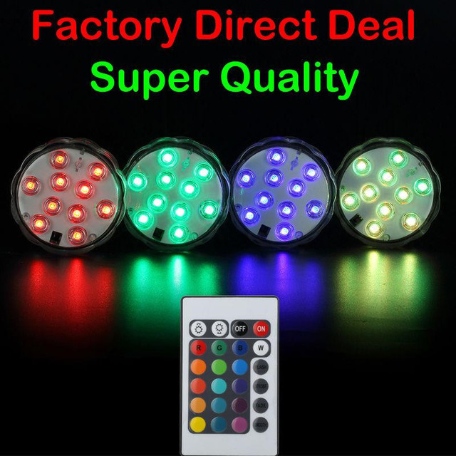 3AAA Battery Operated Submersible RGB Multicolor LED Rotating Vase Light Base for Wedding Centerpiece