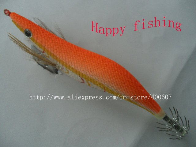 Luminous Squid Jig wood shrimp the most popular model Enjoy Retail Convinenc at Wholesale Price