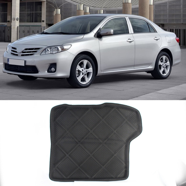NEW! 3D Rear Tail Car Truck Cargo Mat Tray Liner Floor Protector All Weather Waterproof Black For Toyota Corolla