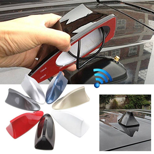 Universal Portable Car Roof Shark Fin Radio AM FM Signal Aerial Antenna Decor