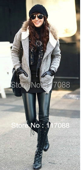 Free Shipping ML7569 Sexy Seamless Leggings Print Black Fashion Jeans Double Layers legging black high waisted leather leggings