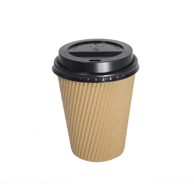 Sample fee Promotional custom LOGO printed disposable coffee cup