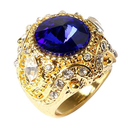 Hot Fahion Men's Vintage Luxury Big Resin Crown Alloy Ring Jewelry Size 7-10  7GAV BDGD