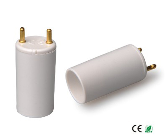 (SPL-082-L7) 100pcs T8 to T5  socket adapter converter,lamp adapter T5 to T8, Fire proof PBT,T8 male to T5 female.