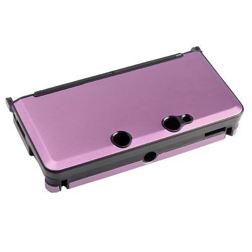 Pink Anti-shock Hard Aluminum Metal Box Cover Case Shell for Nintendo 3DS Console