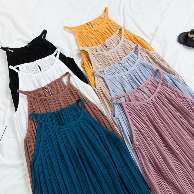 Summer Sexy Women Halter Straps Tank Tops Sexy V-neck Bottoming Sleeveles Vest Top 2019 Fashion Sling Backless Off Shoulder Tops