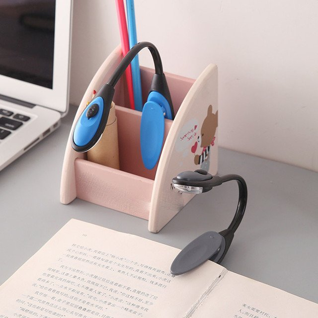 skywolfeye Fine Portable Travel Book Reading Light Lamp Mini LED Clip Booklight Mini reading lamp creative LED night light 5.16