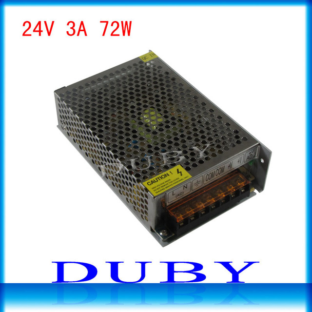24V 3A 72W Switching power supply Driver For LED Light Strip Display AC100-240V  Factory Supplier