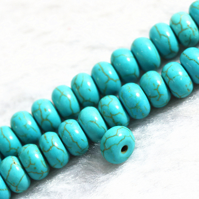 Free shipping 5*8mm abacus rondelle shape beads green calaite turquoises stone elegant loose beads for jewelry 15inch B279