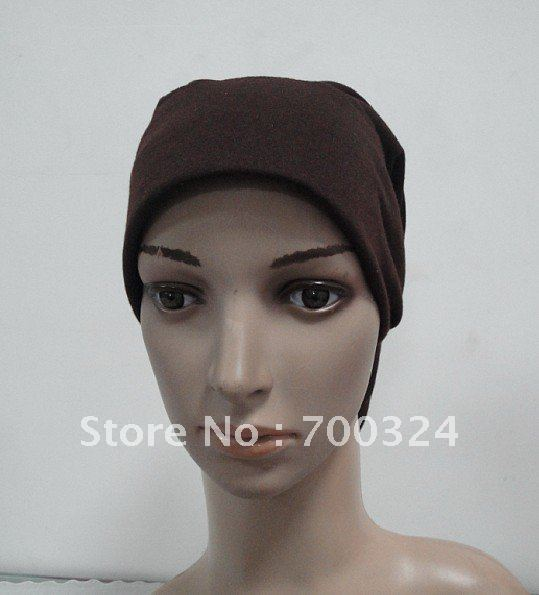 H249y latest design plain tube underscarf with stiff on front,fast delivery,assorted colors