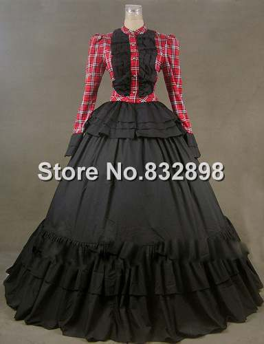 Victorian Gothic Dress Ball Gown Theater Reenactment