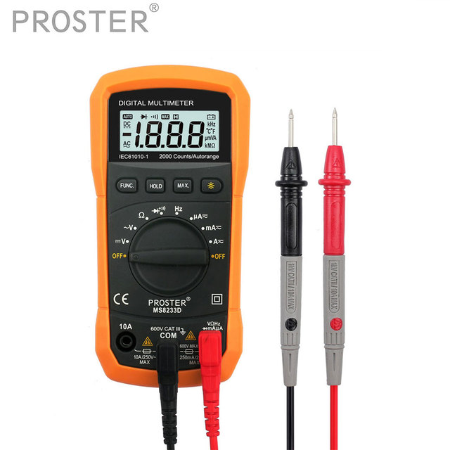 Digital Multimeter Tester 2000 Counts LCD Display 3 1/2 Digit Multimetro DC AC Voltmeter Frequency Portable Tester Proster