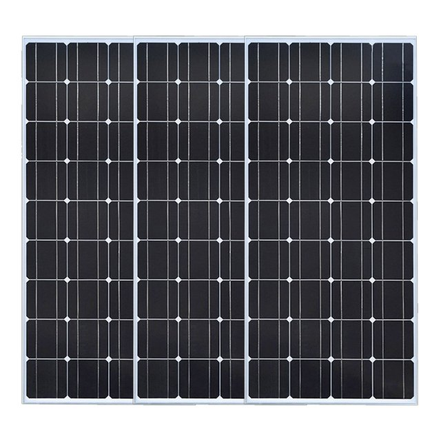 3*100w 300W glass solar panel Home silicon solar system module kit charge outdoor Monocrystalline cell power solar Photovoltaic