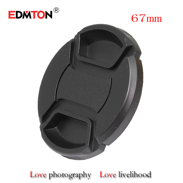67mm lens cap 67mm Center Pinch Snap-on Front Lens Cap for camera Lens Filters with Strap for canon sony nikon